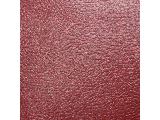 Upholstery Set Premium Rear Seat Red Madrid Grain