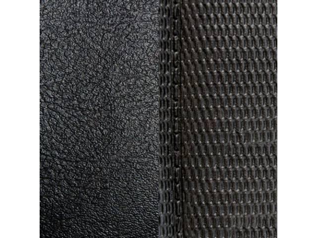 Upholstery Set Premium Rear Seat Black Madrid Grain