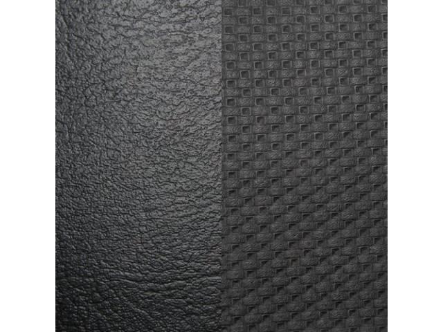 Upholstery Set, Premium, Rear Seat, Black, madrid grain