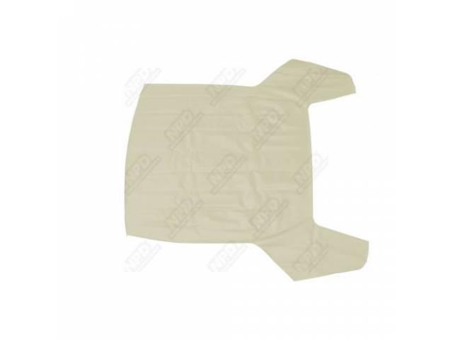 Vinyl Top Double Seam White Levant Grain