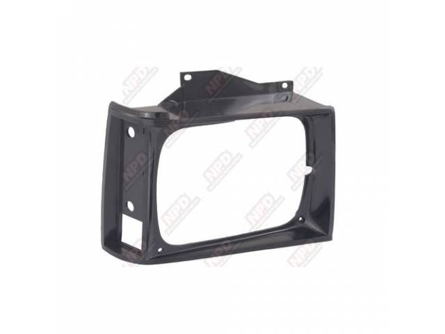 HEAD LAMP BZL / RH BLACK 82-90