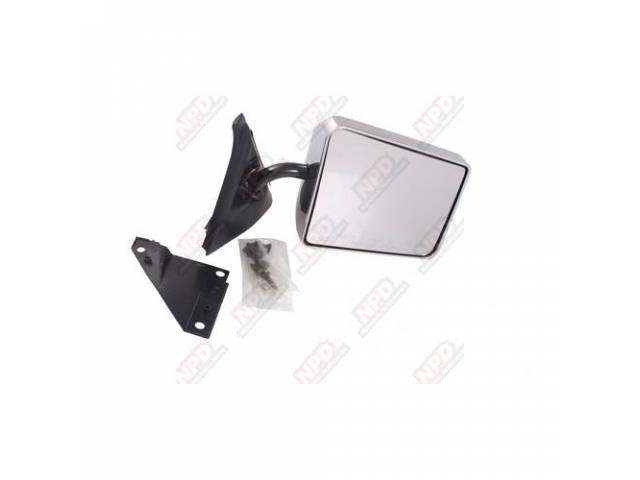 SIDE MIRROR / RH CHROMEOME 82-93 STANDARD BELOW