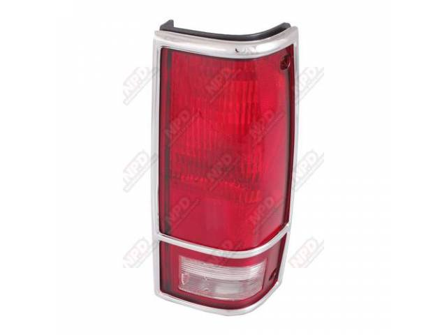 TAIL LAMP / RH 82-93 CHROMEOME