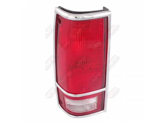 TAIL LAMP / LH 82-93 CHROMEOME