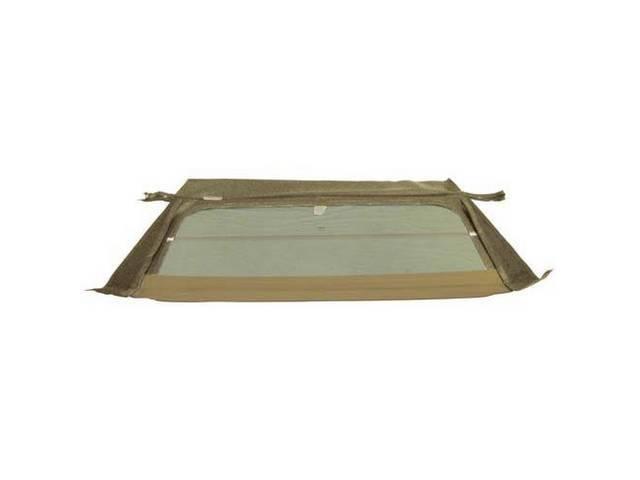 CONVERTIBLE REAR WINDOW TAN W/ FOLDING GLASS CURTAIN