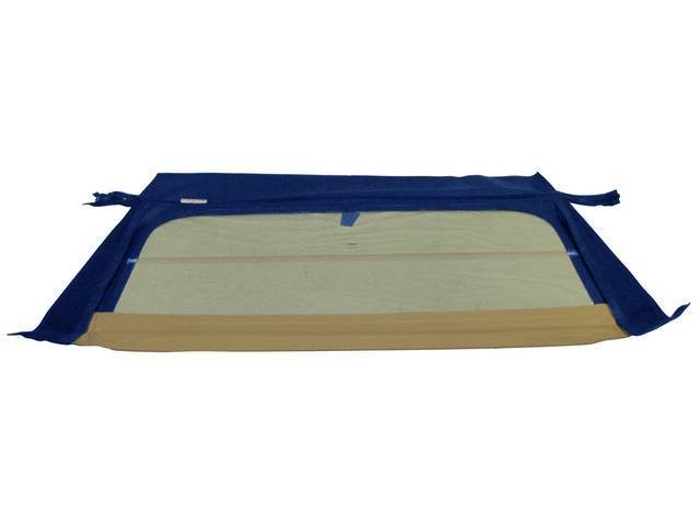 CONVERTIBLE REAR WINDOW, BLUE, W/ FOLDING GLASS CURTAIN