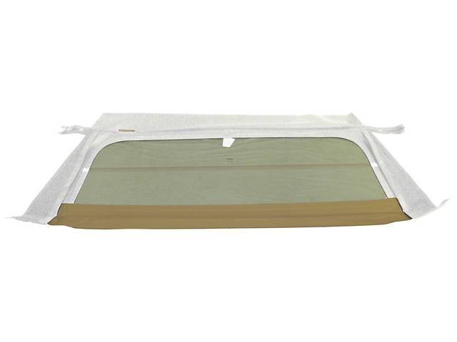 CONVERTIBLE REAR WINDOW, WHITE