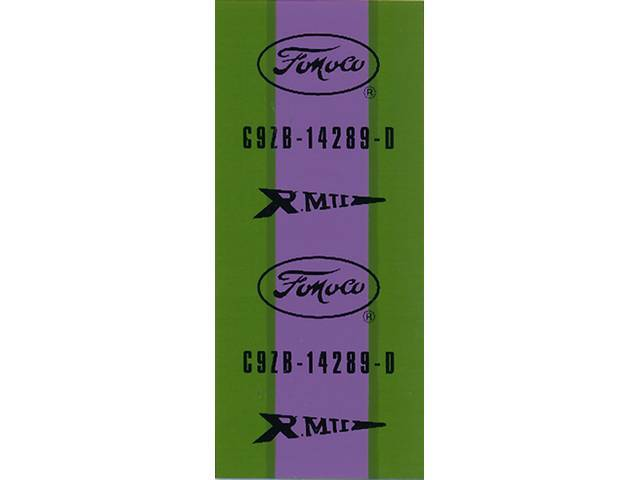 WIRE TAG, Dash to Engine Gauge Feed, purple