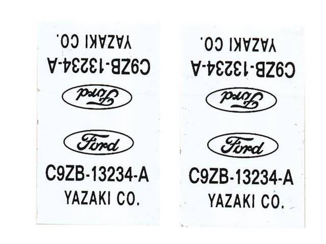 WIRE TAGS, Parking Light Wire, repro, pair, white,