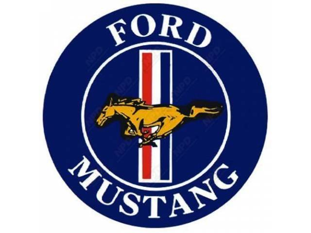 DECAL FORD MUSTANG 3 INCH DIAMETER