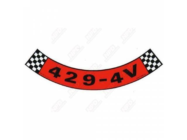 DECAL AIR CLEANER 429-4V