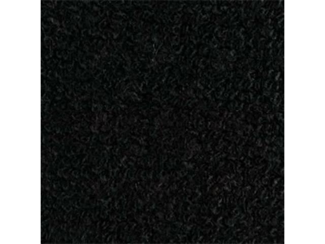 CARPET, DELUXE DOOR PANEL, BLACK