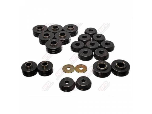 CAB MOUNT KIT POLYURETHANE BLACK 20 PIECES