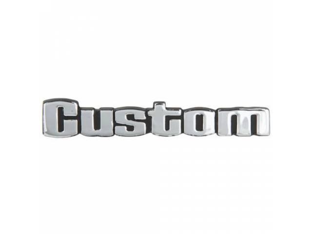 PLATE Instrument Panel Custom repro on glove box
