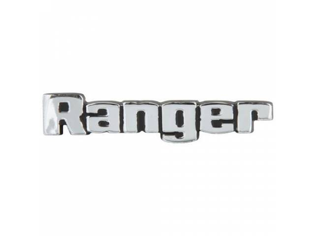 PLATE Instrument Panel Ranger repro on glove box