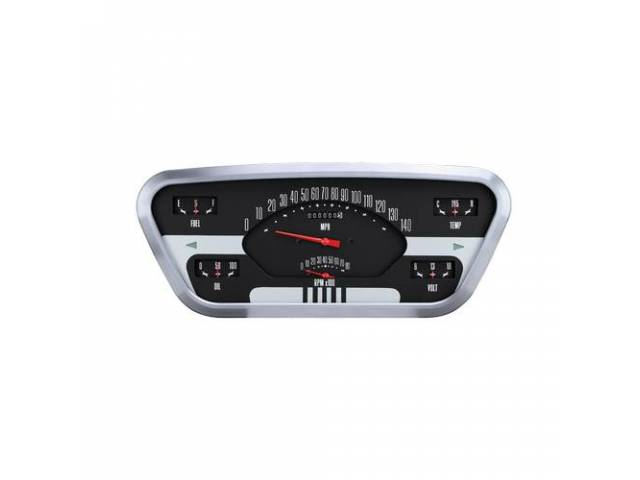 INSTRUMENT CLUSTER ASSY Custom 6 Gauge by Classic