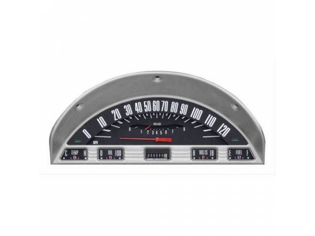 INSTRUMENT CLUSTER ASSY, Custom 6 Gauge, by Classic