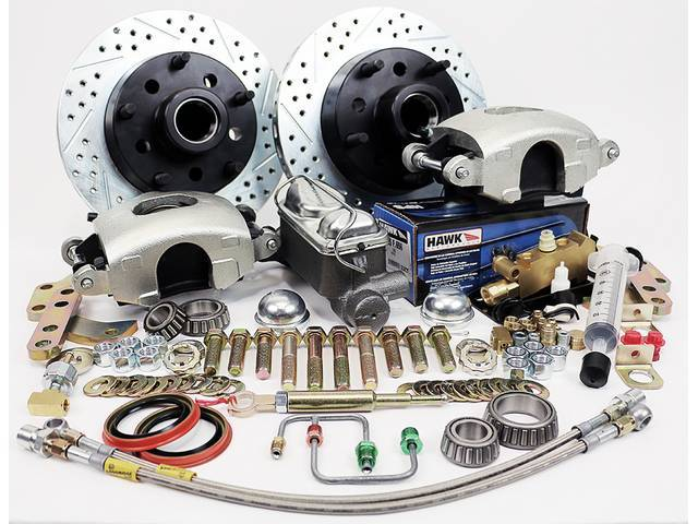 FRONT DISC BRAKE CONVERSION KIT, Bolts to stock