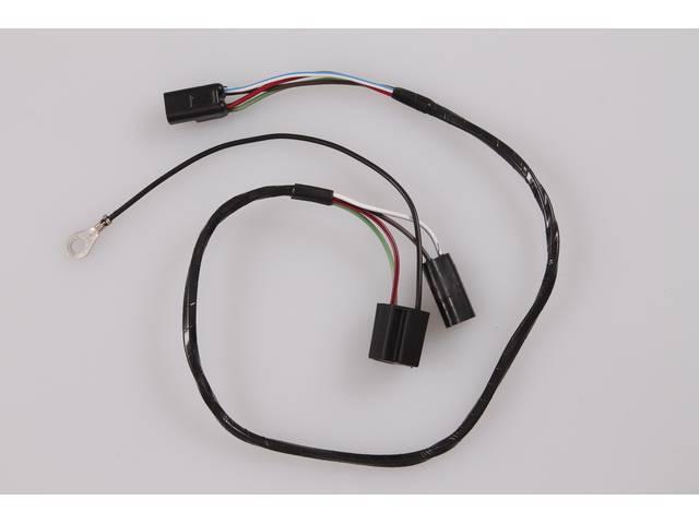 Headlight SOCKET WIRE, repro, 26.5 inch long, D1TZ-13076-A