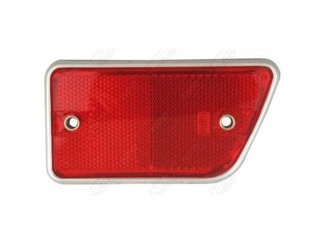 REFLECTOR ASSY, BODY, RH, RED, ORIGINAL FORD TOOLING