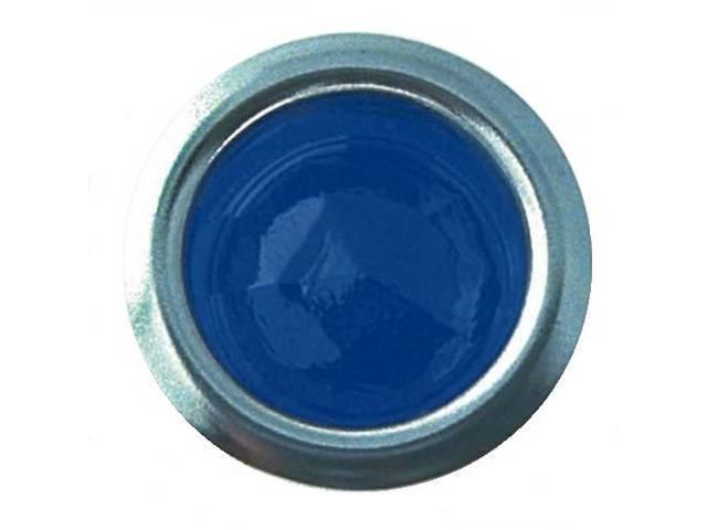 BLUE DOT LENS,  GLASS WITH CHROME RING