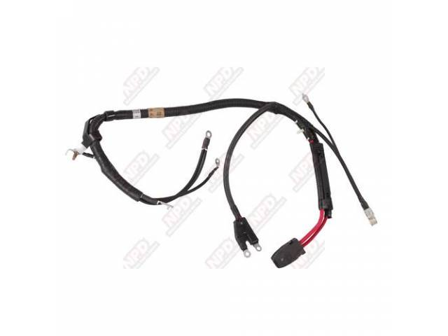 CABLE ASSY BATTERY COMBINED POSITIVE/NEGATIVE REPLACEMENT STYLE WC-9452B