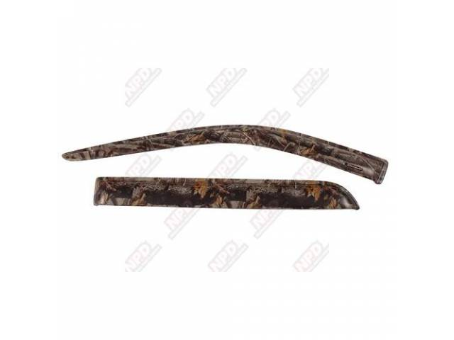 SIDE WIND DEFLECTOR, REALTREE HARDWOODS, FRONT, PROTECTION FROM