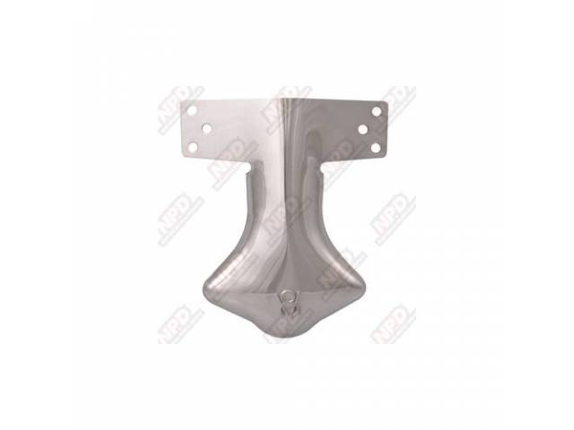 DEFLECTOR EXHAUST OUTLET V-8 OLD STYLE SCRPIT STAINLESS