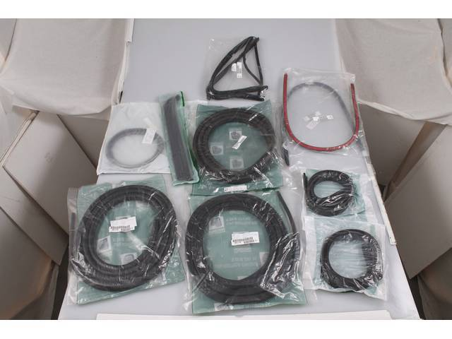 WEATHERSTRIP KIT, Cab, Kit contains the following components;
