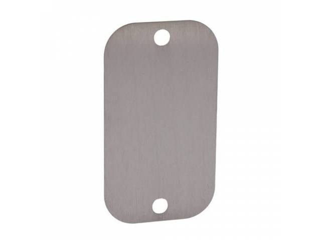 COVER, Liftgate Latch Access, repro in stainless steel,