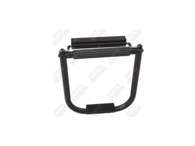 BED HOPPER, TAIL GATE STEP, BY TOPLINE, BLACK,
