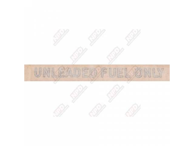 EMBLEM BODY UNLEADED FUEL ONLY TRANSFER