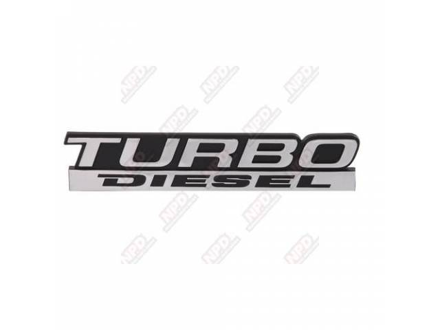 EMBLEM TAIL GATE TURBO DIESEL REMOVE PINS