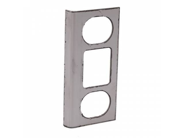 REINFORCEMENT Liftgate Latch Striker polished stainless steel repro