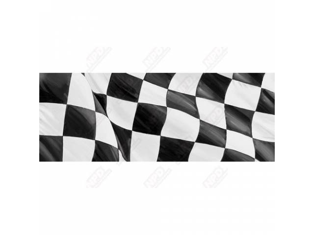 GLASSCAPES REAR WINDOW GRAPHICS CHECKERED FLAG PRESSURE SENSITIVE