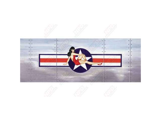 GLASSCAPES REAR WINDOW GRAPHICS MISS RED WHITE AND