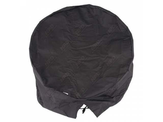 TIRE COVER Plain extra large black 33-35 inch