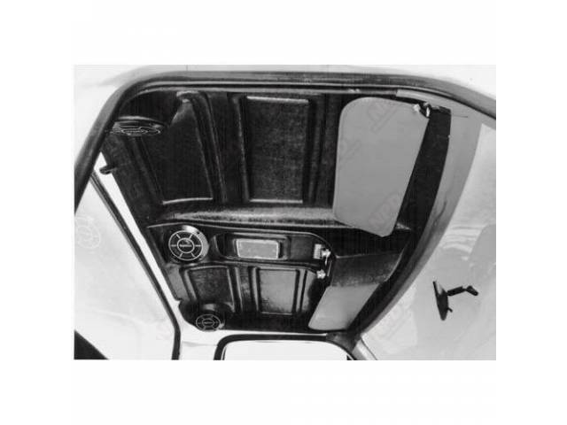 HIGHLINER, HEADLINER RADIO INSERT, BLACK, DOME LIGHT INCLUDED