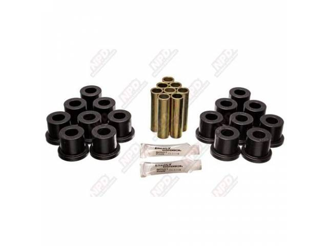BUSHING KIT, POLYURETHANE, SPRING SHACKLE, BLACK
