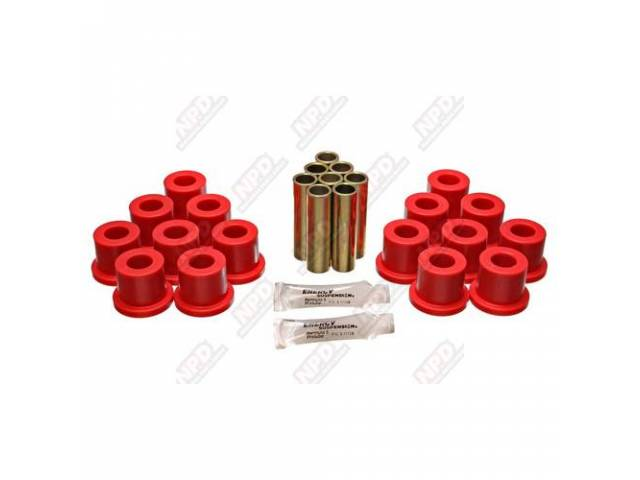 BUSHING KIT POLYURETHANE SPRING SHACKLE RED