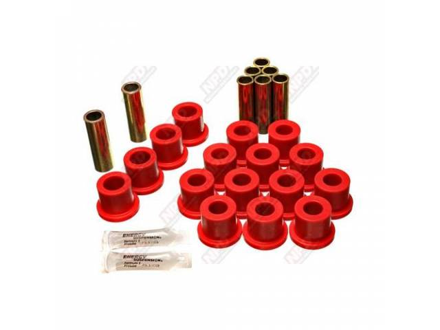 BUSHING KIT, SPRING SHACKLE, POLYURETHANE