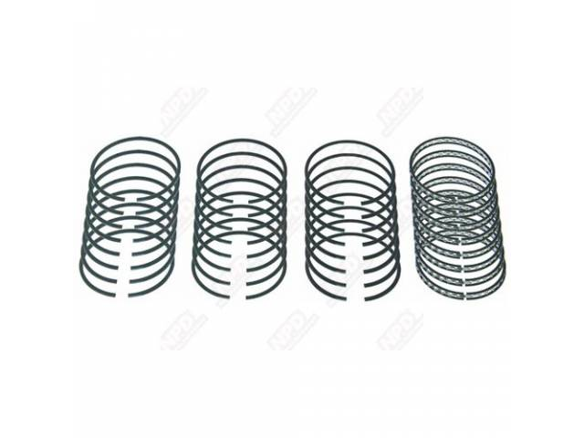 RING SET, PISTON, STANDARD IRON, .040 INCH OVERSIZE