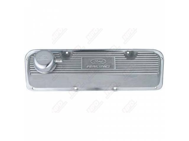 VALVE COVER FORD MOTORSPORT POLISHED ALUMINUM PAIR