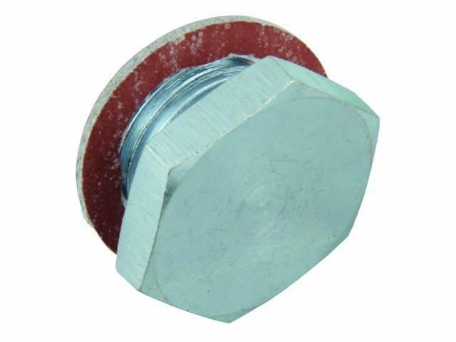 PLUG, Oil Relief Valve, repro, zinc plated, includes