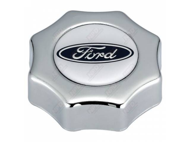 FILLER CAP Engine OilCustom chrome with Ford oval