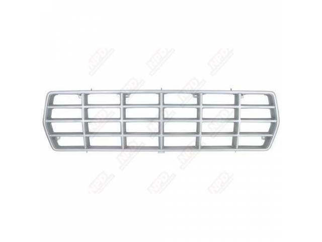 GRILLE, RADIATOR INNER, BRIGHT ARGENT, ORIGINAL FORD TOOLING