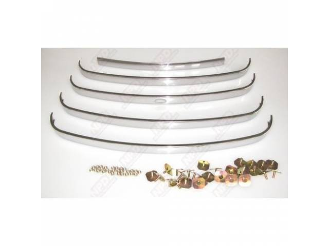 GRILLE RADIATOR POLISHED STAINLESS STEEL 5 PIECES WITHOUT