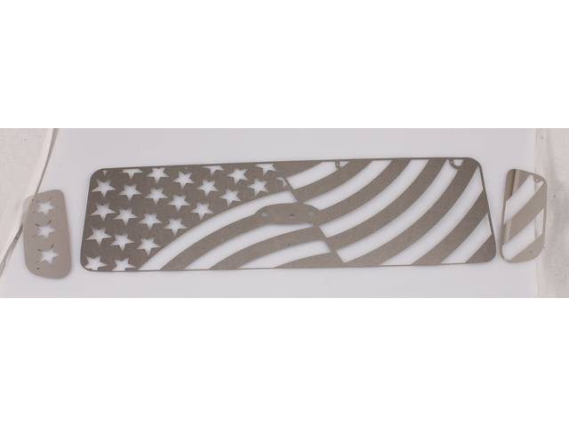GRILLE, CUSTOM SHEET, LASER CUT STAINLESS STEEL, USA