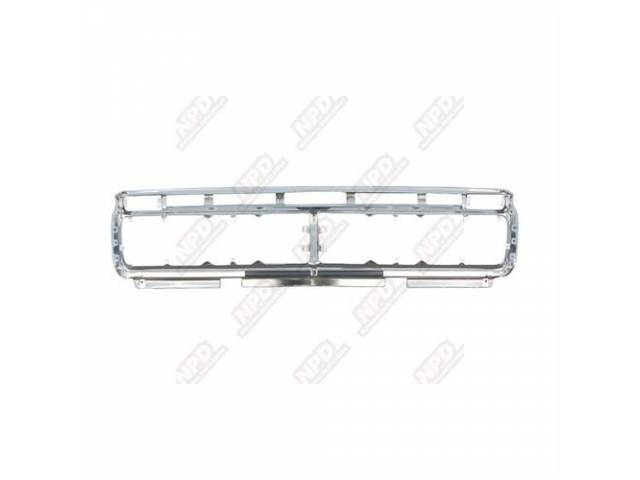 GRILLE, Radiator, shell only, bright anodized finish, original