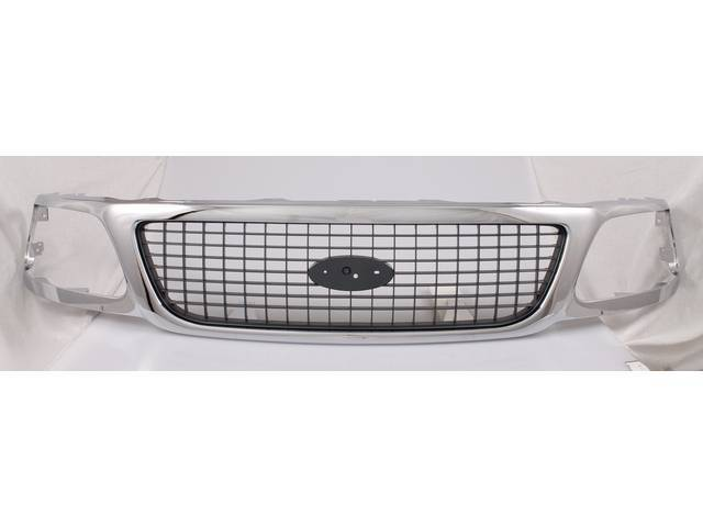 GRILLE, REPRO, CHROME AND CHARCOAL, XL1Z-8200-AAA